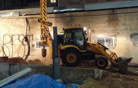 פרויקט קידוח קיר דיפון בתל אביב