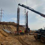 עבודה תחת מתח גבוה עבודות קידוח בנמל אשדוד.